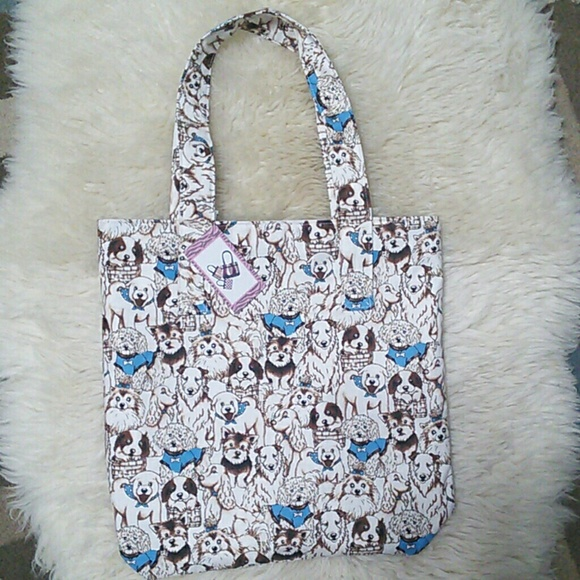 Lady Birch Handbags - Dogs Tote Bag Reversible